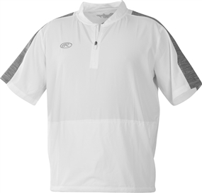 Rawlings Adult Short Sleeve Launch Cage Jacket - White-Graphite