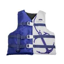 Life Jacket Vest Navy/White with Anchor - Youth