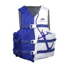 Life Jacket Vest Navy/White with Anchor - Adult Oversized