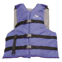 Xtreme Water Sports Life Jacket Vest General Boating - Blue - Adult - 4 Pack