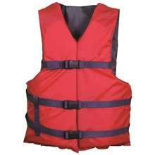 Xtreme Water Sports Life Jacket Vest General Boating - Red - Adult