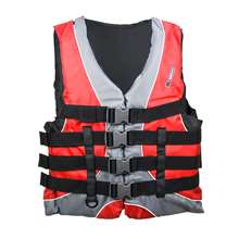 Xtreme Water Sports Men's Nylon Life Jacket Vest - Red/Black - Small