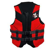 Xtreme Water Sports Neoprene Life Jacket Vest - Red/Black - Youth