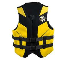 Xtreme Water Sports Neoprene Life Jacket Vest - Yellow/Black - Small