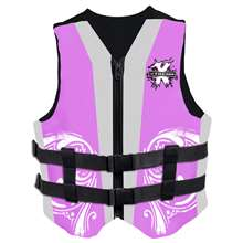 Xtreme Water Sports Women's Neoprene Life Jacket Vest - Pink/Grey - Large