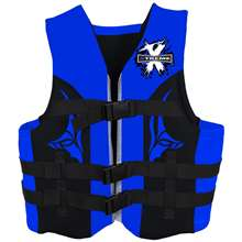 Xtreme Water Sports Neoprene Life Jacket Vest - Blue/Grey - Sm/M