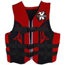 Xtreme Water Sports Neoprene Life Jacket Vest - Red/Grey - L/XL