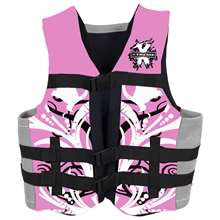 Xtreme Water Sports Women's Neoprene Life Jacket Vest - Pink - 2XL/3XL