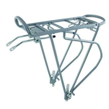 O-Stand Bicycle Bike Traveler Silver Alloy Pannier Rack