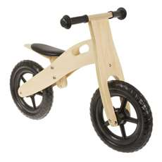 Anlen Ultra-light 12 inch Black Wooden Running/Balance Bike Bicycle