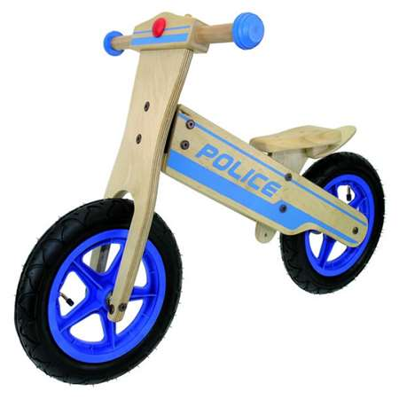 Anlen Police 12 inch Wooden Balance/Running Bike Bicycle