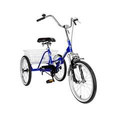 Mantis Tri-Rad 20 inch Blue Adult Folding Tricycle