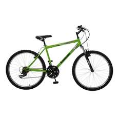 Kawasaki K26 Hardtail Mountain Bike, 26 in wheels, 18 in frame, Men's Bike, Green Bicycle
