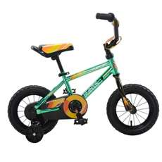 Mantis Growl Green Ready2Roll 12 inch Kids Bicycle, 2 Minute Hassle-Free Assembly