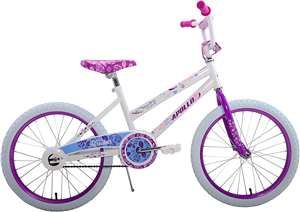 Apollo Heartbreaker 20 inch Kid's Bicycle, Ages 7 to 12, 48 to 60 inches tall, White/Pink