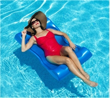 Deluxe Aqua Hammock Swimming Pool Float - 48 in. x 27 in. - Blue
