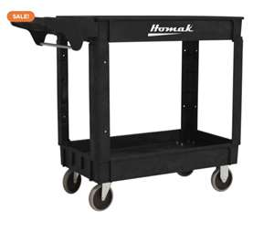 Homak 36 X 24 inches IND PP Service Cart