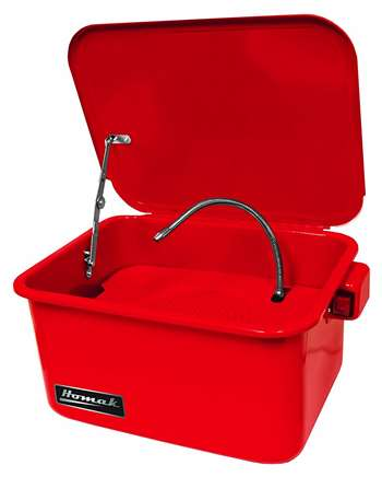 Homak 3-1/2-Gallon Parts Washer, Red