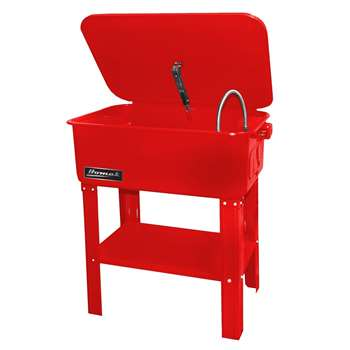 Homak 20-Gallon Parts Washer, Red