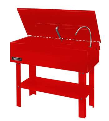 Homak 40-Gallon Parts Washer, Red