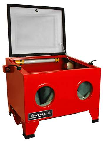 Homak 23-Inch Table Top Abrasive Blast Cabinet, Red