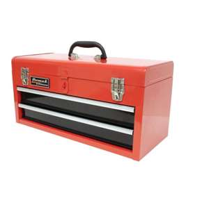 Homak 20-Inch 2-Drawer Ball-Bearing Toolbox/Chest, Red