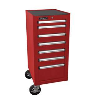 Homak H2Pro Series 7 Drawer Side Cabinet, Red, 18""