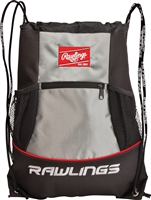 Rawlings Player Baseball String Pack Bag Backpack Black-Silver