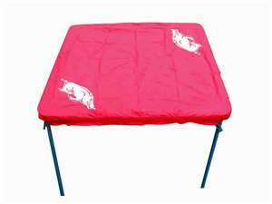University of Arkansas Razorbacks Card Table Cover
