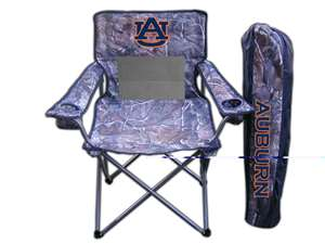 Auburn University Tigers  Realtree Camo Chair Tailgate Camping