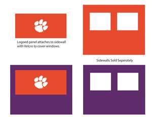 Clemson University Tigers Side Wall Panel for 9X9 Canopy