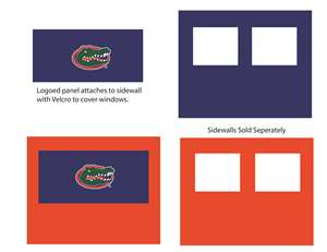 University of Florida Gators Side Wall Panel for 9X9 Canopy