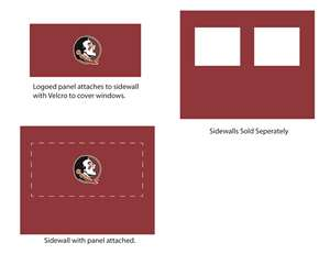 Florida State University Seminoles Side Wall Panel for 9X9 Canopy