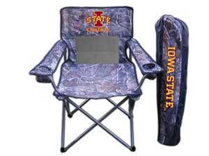 Iowa State University Cyclones Realtree Camo Chair Tailgate Camping
