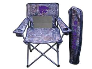 Kansas State University Wildcats Realtree Camo Chair Tailgate Camping