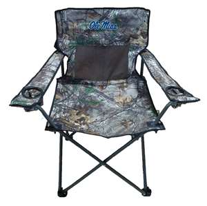 University of Mississippi Ole Miss Rebels Realtree Camo Chair Tailgate Camping