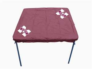 Mississippi State University Bulldogs Card Table Cover