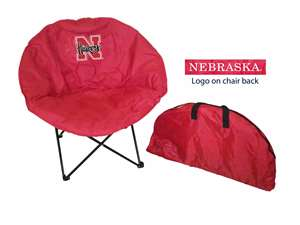 University of Nebraska Corn Huskers Round Chair - Tailgate Camping Dorm