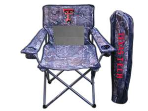 Texas Tech Red Raiders Realtree Camo Chair Tailgate Camping