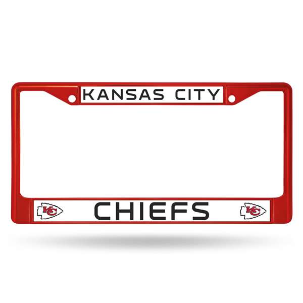 Kansas City Chiefs Rico Chrome Plated Zinc License Plate Frame