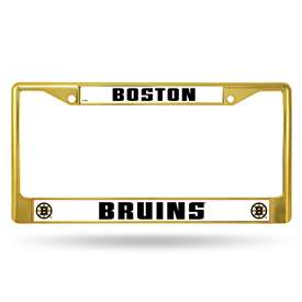 Boston BruinsGOLD COLORED CHROME FRAME