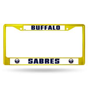 SABRES YELLOW COLORED CHROME FRAME