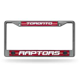 Toronto Raptors Rico Chrome License Plate Frame