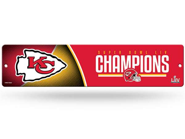 Kansas City Chiefs Super Bowl LIV 54 Champions High Resolution Plastic Street Sign