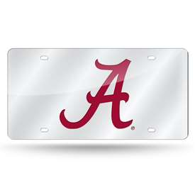 University of Alabama Crimson Tide SCRIPT A SILVER BKG