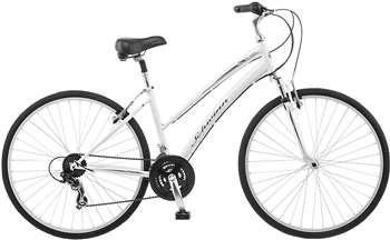 Schwinn Network 1.0 700c Women's 16 Hybrid Bike, 16-Inch White