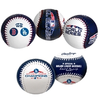 2018 World Series Los Angeles Dodgers Rawlings Replica  Two (2) Baseball Set
