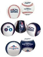 2018 World Series Los Angeles Dodgers Rawlings Replica Baseball Set (3 Ball Set)