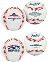 Boston Red Sox 2018 World Series Champions Rawlings Replica 2 (two) Baseball Collectors Set