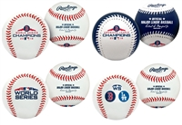 Boston Red Sox 2018 World Series Champions Rawlings Replica 4 (four) Baseball Collectors Set